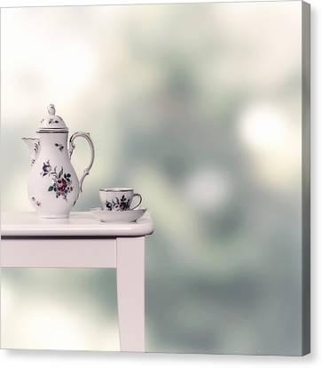 Tea Cup And Pot Canvas Print by Joana Kruse