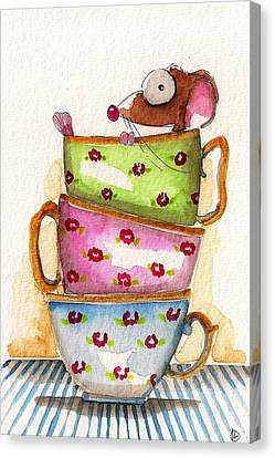 Tea For One Canvas Print by Lucia Stewart