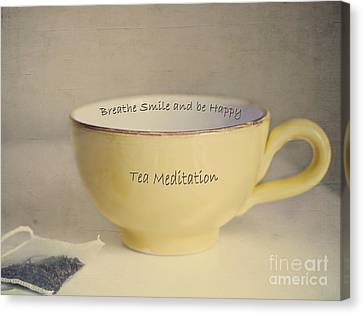 Tea Meditation Canvas Print by Irina Wardas