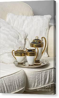 Tea Set Canvas Print by Amanda Elwell