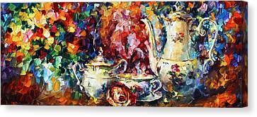 Tea Time 2 Canvas Print by Leonid Afremov