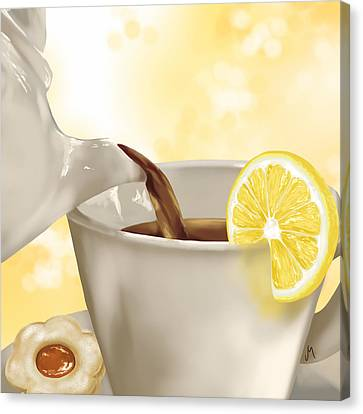 Tea Time Canvas Print by Veronica Minozzi