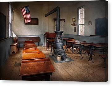 Teacher - First Day Of School Canvas Print by Mike Savad