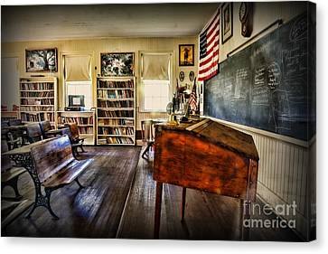 Teacher - One Room School Canvas Print by Paul Ward