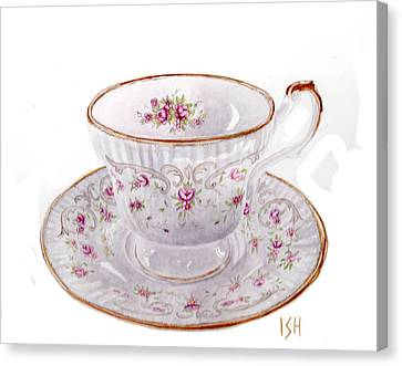 Teacup Canvas Print by Inger Hutton