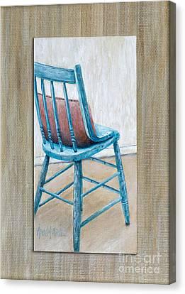 Teal Kitchen Chair By Ann Marie Fitzsimmons Canvas Print by Sheldon Kralstein