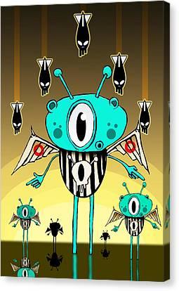 Team Alien Canvas Print by Johan Lilja