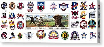 Teams Of The Negro Leagues Canvas Print by Mike Baltzgar