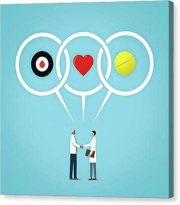 Teamwork In Healthcare Canvas Print by Mark Airs