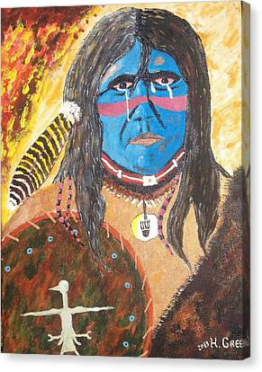 Tears For The Homeland Canvas Print by Harold Greer