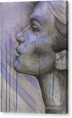 Tears In The Rain Canvas Print by Michael  Volpicelli