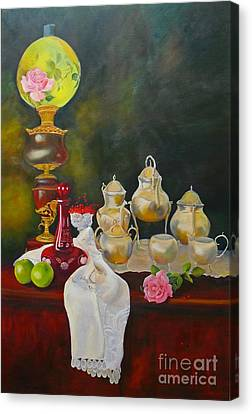Teatime Canvas Print by Beatrice Cloake