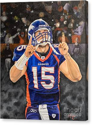 Tebow Moment Canvas Print by Justin Austin
