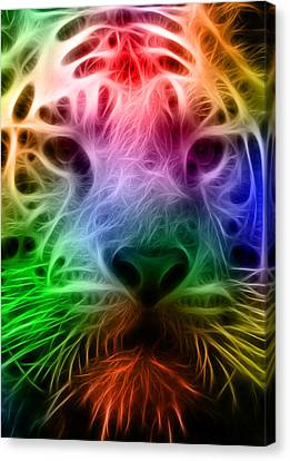 Techicolor Tiger Canvas Print by Ricky Barnard