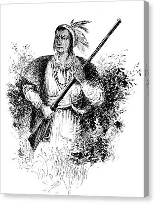 Tecumseh, Shawnee Indian Leader Canvas Print by British Library