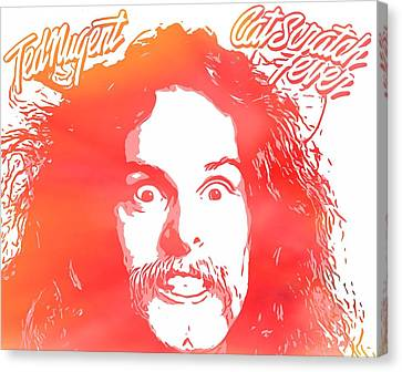 Ted Nugent Cat Scratch Fever Canvas Print by Dan Sproul