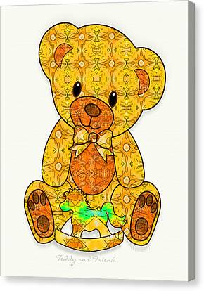 Teddy And Friend Canvas Print by Gayle Odsather
