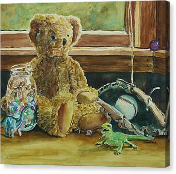Teddy And Friends Canvas Print by Jenny Armitage