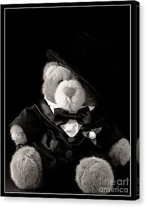 Teddy Bear Groom Canvas Print by Edward Fielding