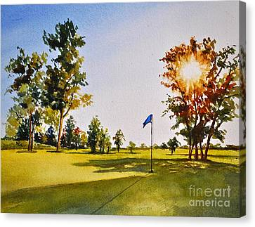 Tee Time Canvas Print by Andrea Timm
