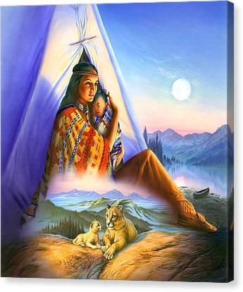 Teepee Of Dreams Canvas Print by Andrew Farley