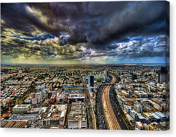 Tel Aviv Blade Runner Canvas Print by Ron Shoshani