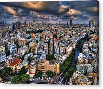 Tel Aviv Lookout Canvas Print by Ron Shoshani