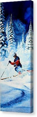 Telemark Trails Canvas Print by Hanne Lore Koehler