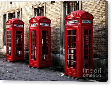 Telephone Choices Canvas Print by John Rizzuto