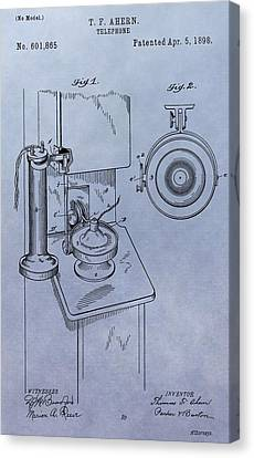 Telephone Patent Canvas Print by Dan Sproul
