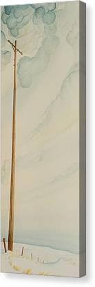 Telephone Pole Canvas Print by Scott Kirby