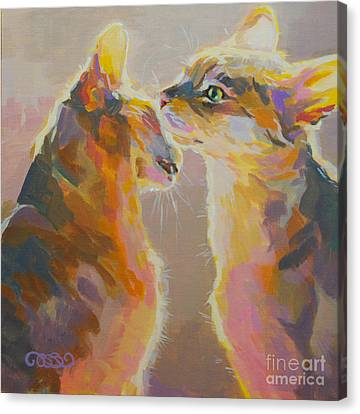 Telling Secrets Canvas Print by Kimberly Santini