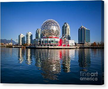Telus World Of Science Vancouver Canvas Print by Chris Dutton