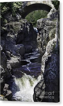 Temperance River Canvas Print by CJ Benson