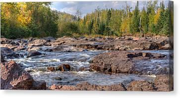 Temperance River Fall  Canvas Print by Shane Mossman