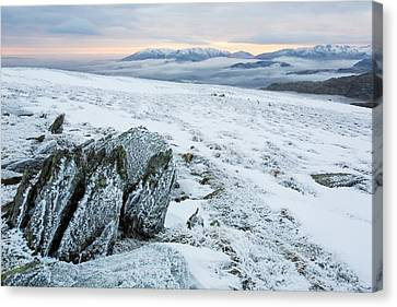 Temperature Inversion From Red Screes Canvas Print by Ashley Cooper