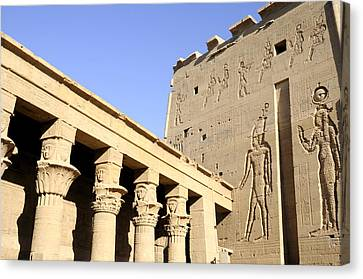 Temple At Philae In Egypt Canvas Print by Brenda Kean