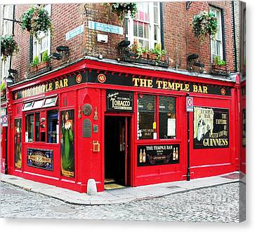 Temple Bar Canvas Print by Mel Steinhauer
