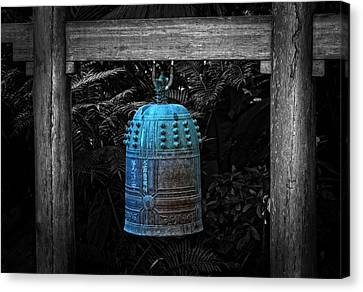 Temple Bell - Buddhist Photography By William Patrick And Sharon Cummings  Canvas Print by Sharon Cummings