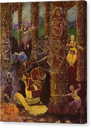 Temple Dance Canvas Print by Alika Kumar