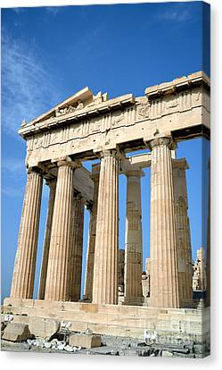 Temple Of Parthenon Canvas Print by George Atsametakis