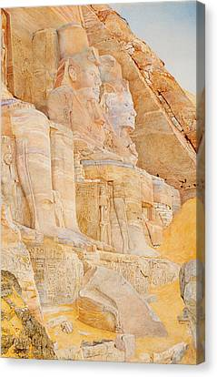 Temple Of Ramses II Canvas Print by Mountain Dreams