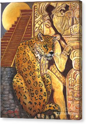 Temple Of The Jaguar Canvas Print by Pamela Mccabe