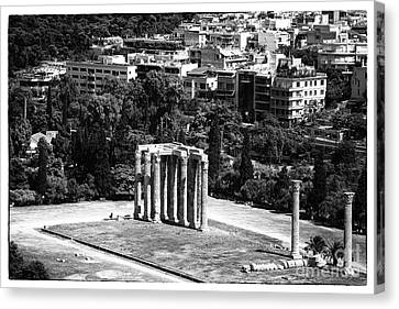 Temple Of Zeus II Canvas Print by John Rizzuto