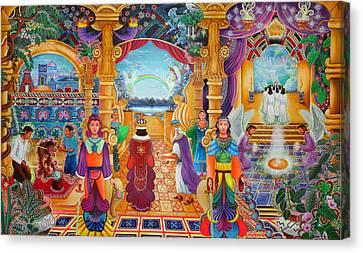 Templo Sacrosanto Canvas Print by Pablo Amaringo