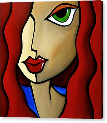 Temptress Canvas Print by Tom Fedro - Fidostudio