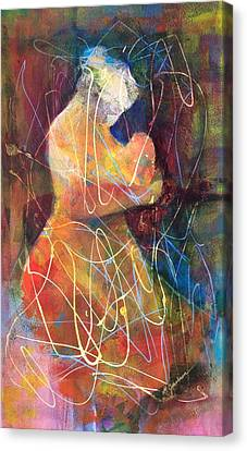 Tender Moment Canvas Print by Marilyn Jacobson