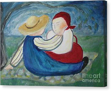 Tenderness Canvas Print by Teresa Hutto