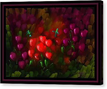 Tending Hearts - Scratch Art Series - # 13 Canvas Print by Steven Lebron Langston