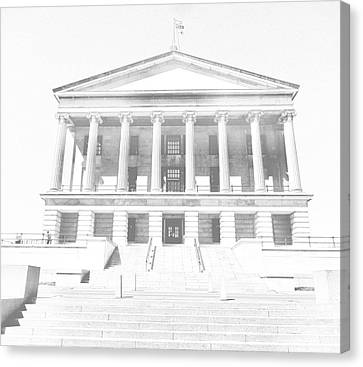 Tennessee Capitol Building Sketch Canvas Print by Dan Sproul